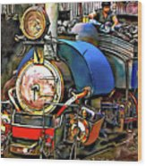 Darjeeling Toy Train Wood Print