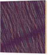 Dark Abstract Bars In Space Wood Print
