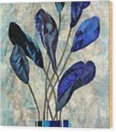 Dark Blue Wood Print