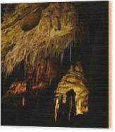 Dark Cave Wood Print