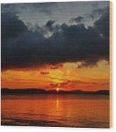 Dark Cloud Sunrise Wood Print