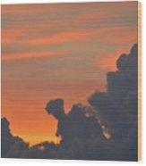 Dark Clouds At Sunset  Wood Print