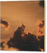 Dark Clouds Looming Wood Print