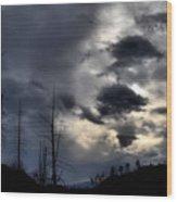 Dark Clouds Wood Print