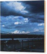 Dark Crossway Wood Print