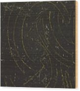 Dark Energy With Lighting Wood Print