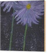 Dark Floral  Wood Print