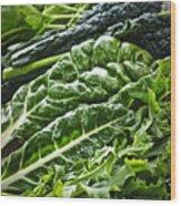 Dark Green Leafy Vegetables Wood Print by Elena Elisseeva