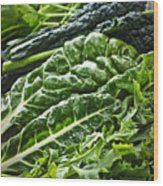 Dark Green Leafy Vegetables Wood Print