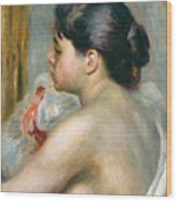 Dark-haired Woman Wood Print