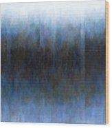 Dark Ice Wood Print