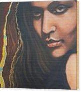 Dark Soulful Latin Eyes          From The Attitude Girls Wood Print