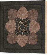 Dark Leaves Wood Print