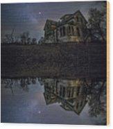 Dark Mirror Wood Print