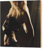 Dark Mysterious Dancer Wood Print