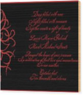 Dark Nights Bright Days Wedding Invitaion Wood Print