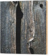 Dark Old Wooden Boards With Shadow Wood Print