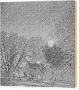 Dark, Rainy Night Wood Print