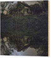 Dark Reflection Wood Print
