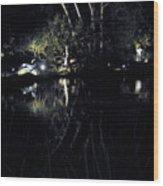 Dark Reflections Wood Print