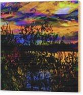 Dark Shadowy Sunset Wood Print