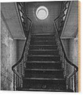 Dark Stairs To Attic - Urban Exploration Wood Print