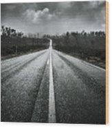 Dark Stormy Road To Cradle Mountain In Tasmania Wood Print