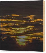 Dark Sunrise Wood Print