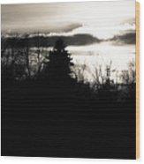 Dark Sunset Wood Print