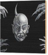 Dark Transformation Wood Print