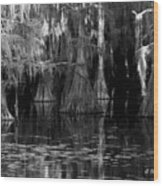 Dark Water Wood Print