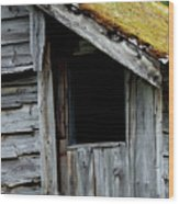 Dark Window Wood Print