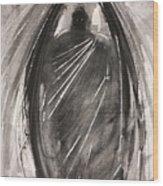 Dark Winged Demon Wood Print