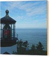 Darkened Lighthouse Wood Print