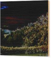 Darkness At The Edge Of Dawn Wood Print