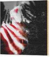 Darkness Falling On Freedom Wood Print