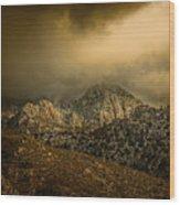 Darkness Falls Over The Sandias Wood Print