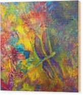 Darling Dragonfly Wood Print
