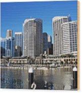 Darling Harbour Sydney Australia Wood Print