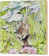 Darling Mouse Wood Print