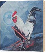 Darth Chicken Wood Print