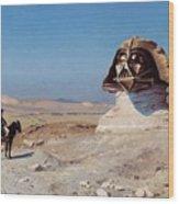 Darth Sphinx 2 Wood Print