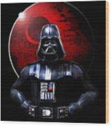 Darth Vader And Death Star Wood Print
