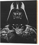 Darth Vader Wood Print by Don Medina