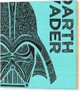 Darth Vader - Star Wars Art - Blue Wood Print