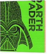 Darth Vader - Star Wars Art - Green Wood Print