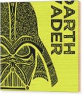 Darth Vader - Star Wars Art - Yellow Wood Print