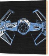 Darth Vaders Tie Figher Advanced X1 Tee Wood Print