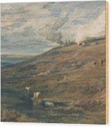 Dartmoor The Source Of The Tamar And The Torridge Wood Print