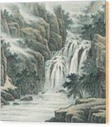 Dashan Waterfall Wood Print